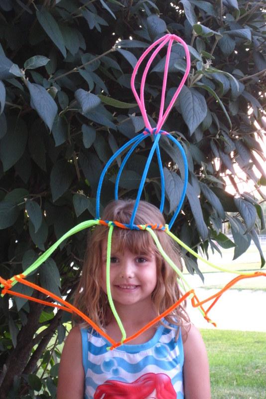 fuzzy stick hat