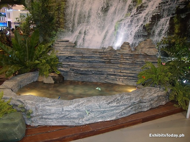 Waterfall model at the Zamboanga Exhibit Booth