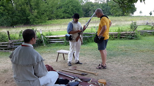 NPS Ranger demonstrating the interworkings of a musket for Fred