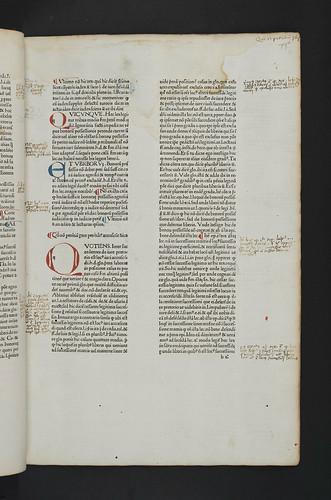Manuscript annotations in Bartolus de Saxoferrato: Super secunda parte Codicis