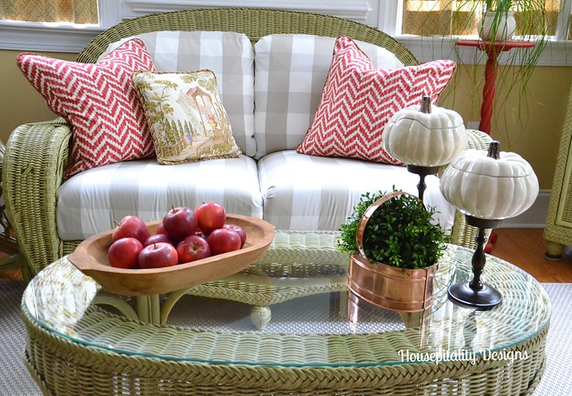 Sunroom Fall Vignette-Housepitality Designs