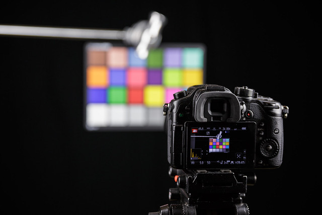 GH4 with ColorChecker