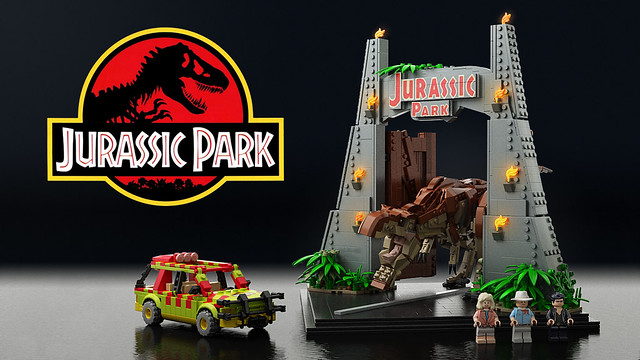Lego Ideas Jurassic Park -project