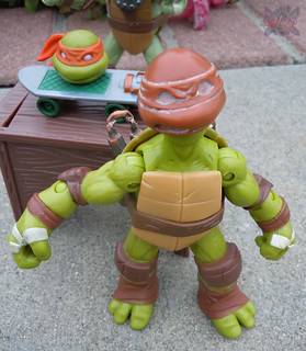 Nickelodeon  TEENAGE MUTANT NINJA TURTLES :: MICHELANGELO ..rejected noggin; sculpt by Stefan Varner xiv / ..set atop manufactured MIKE body  (( 2012 ))