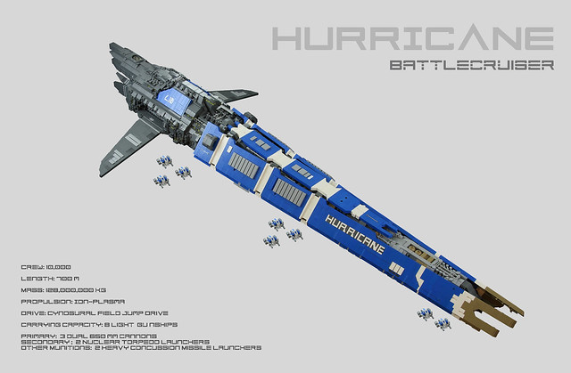 Hurricane Battlecruiser by One More Brick, on Flickr