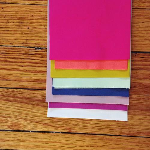 Today's color palette. #artgalleryfabrics #pureelements