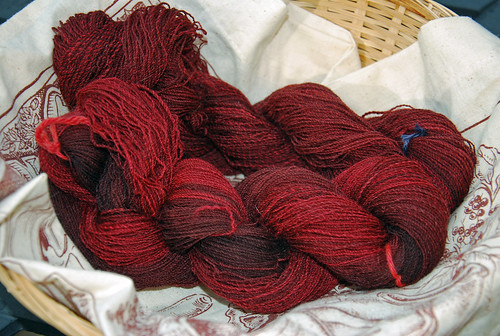 Handspun Shetland wool 2-ply yarn dyed by The Painted Tiger