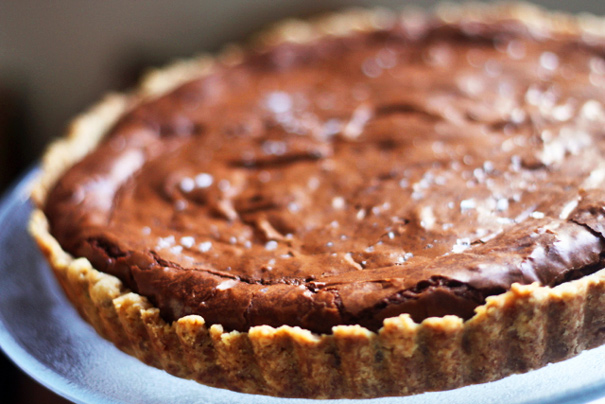 The World's Easiest Chocolate Tart