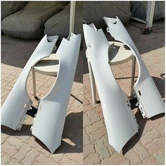 #For#Sale#Used#Parts#Mercedes#Benz#OEM#R129#SLClass#alyehliparts#alyehli#UAE#AbuDhabi#AlFalah#City  For Sale Mercedes Benz OEM R129 SL Class Used Parts :  R129 FRONT FENDERS - TWO PIECES LEFT AND RIGHT  Color : White  Fit in all R129s  NOTES : SMALL DANT