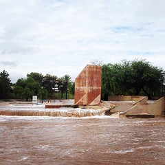 Indian Bend Wash is completely flooded. The Wedge skatepark is under water...