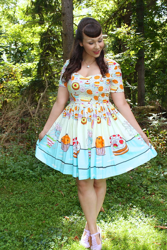 tea party print dress