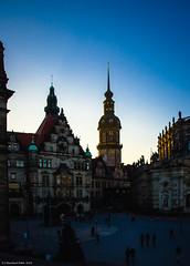 Dresden, Das Schloss im letzten Licht eines kalten Wintertages