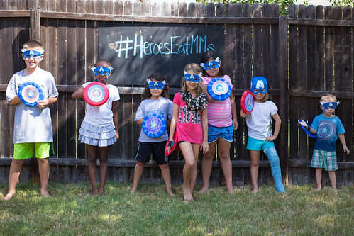 Captain America Party Kids #HeroesEatMMs #Shop