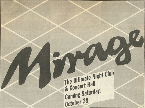 10/28/89 Mirage, Minneapolis, MN (Grand Openeing)(Ad-Top)