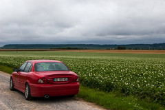 Ma Jaguar X-Type en pleine campagne
