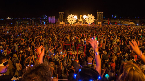 145 Diplo and Skrillex at Burning Man 2014 Opulent Temple