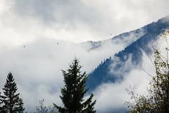 PEAK 2 PEAK Gondola amongst the clouds