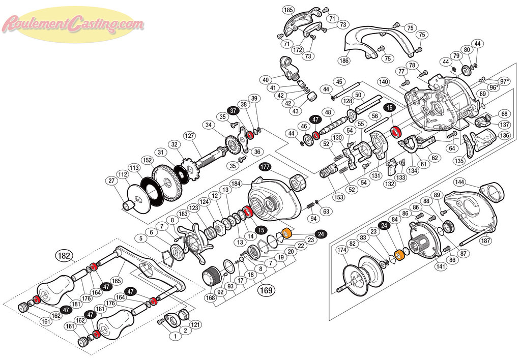 Schéma Shimano Antares DC7-LV