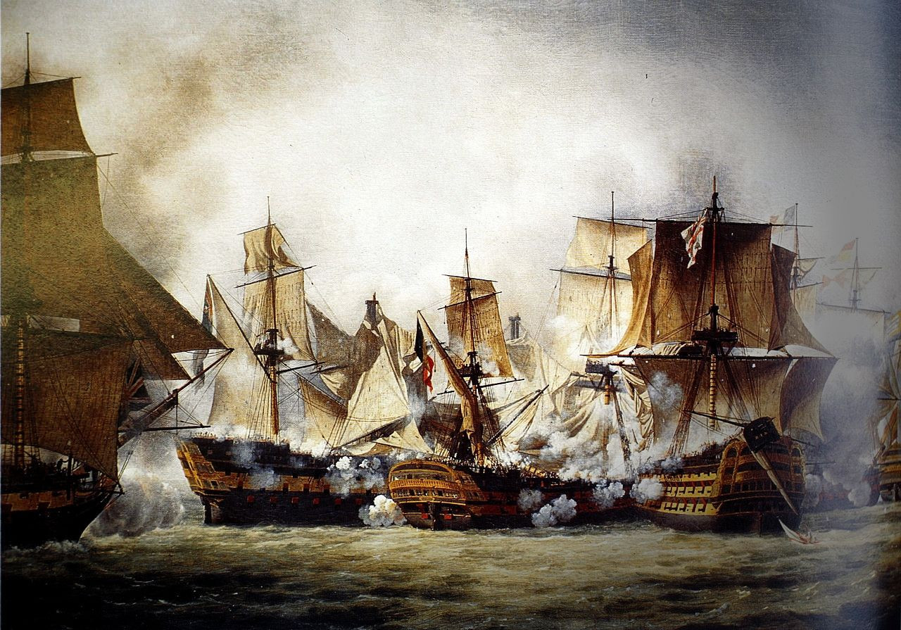 Scene of the Battle of Trafalgar by Louis-Philippe Crépin, 1807