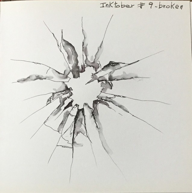 Inktober 2016 #9 - broken, Apple iPad Air 2, iPad Air 2 back camera 3.3mm f/2.4