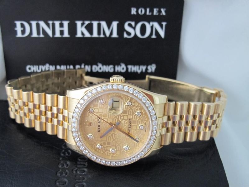Bán đồng hồ rolex datejust 6 số 116238 – mặt vi tính xoàn – vàng 18k – size 36