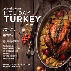 Holiday Turkey Pre-Orders