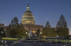US Capitol Waning Crescent