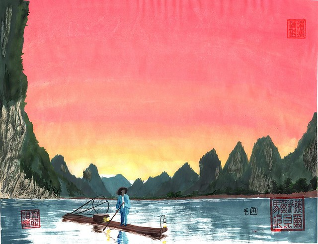 Li River fisherman - 01 January 2016