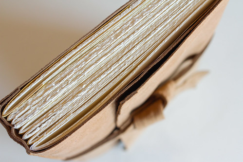 Leather Longstitch Watercolor Journal-32