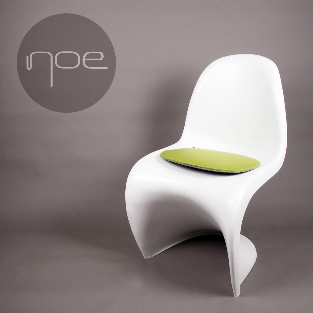 filz kissen geeignet f r panton chair stuhl gepolstert filzkissen auflage ebay. Black Bedroom Furniture Sets. Home Design Ideas