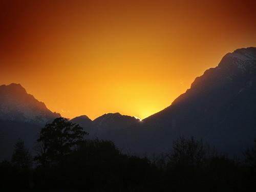 sunset italy mountain landscape italia friuli fagagna feagne
