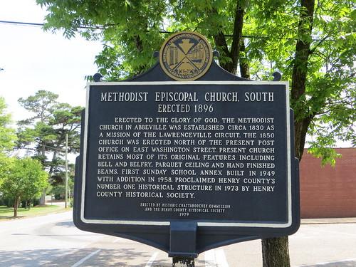Methodist Episcopal Church South Marker (HCC) Abbeville AL