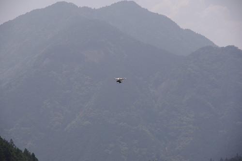ラジコンヘリによる空撮