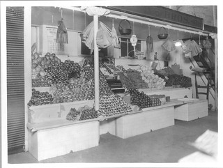 Photograph of a Fruit and Vegetable Stand in Center Market, 04/06/1923