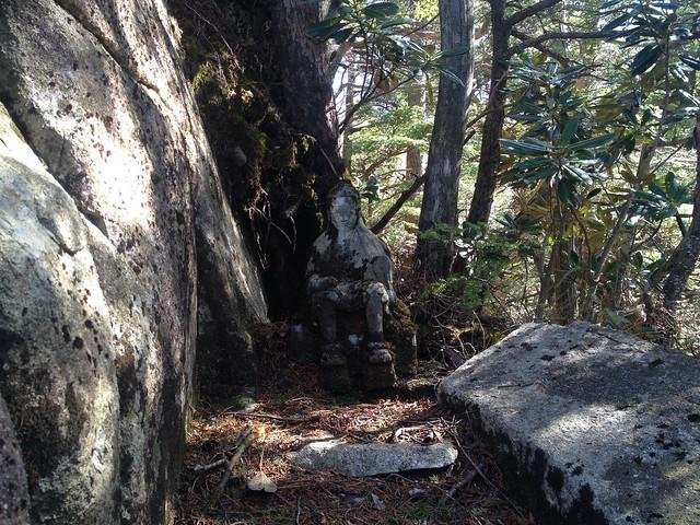 恵那山 行者越 石像