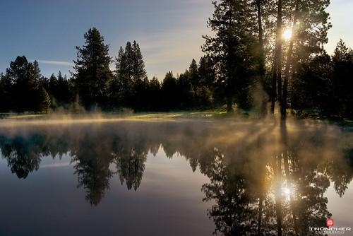 mist nature oregon centraloregon sunrise reflections landscape outdoors bend sony scenic silhouettes fullframe fx waterscape a7r cascadehighway widgicreek sonya7r sonyilce7r zeissfe35mmf28za