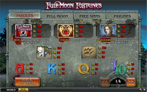 free Full Moon Fortunes slot mini symbol