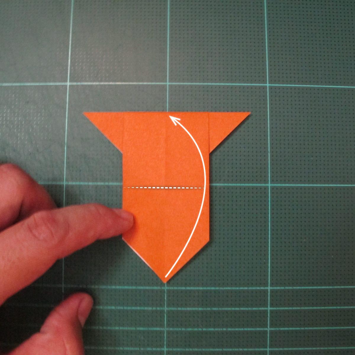 วิธีพับกระดาษเป็นที่คั่นหนังสือรูปหมาบูลด็อก (Origami Bulldog Bookmark) 005