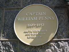 Photo of William Penny yellow plaque