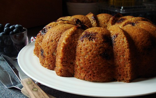 Blueberry Buckwheat Maple Bundt