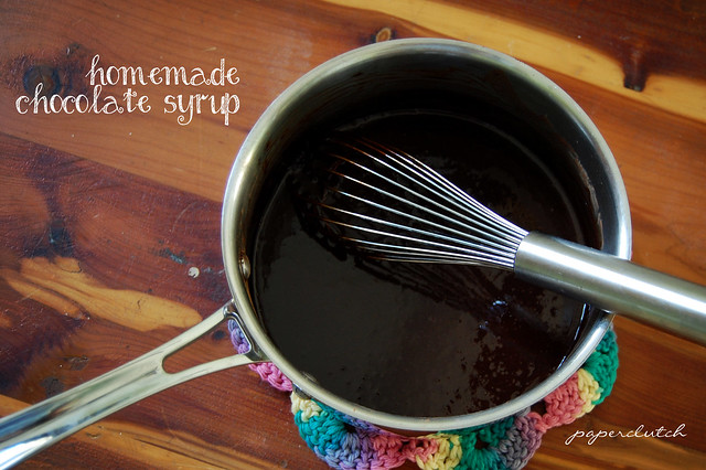Chocolate Syrup ; http://paperclutch.blogspot.com