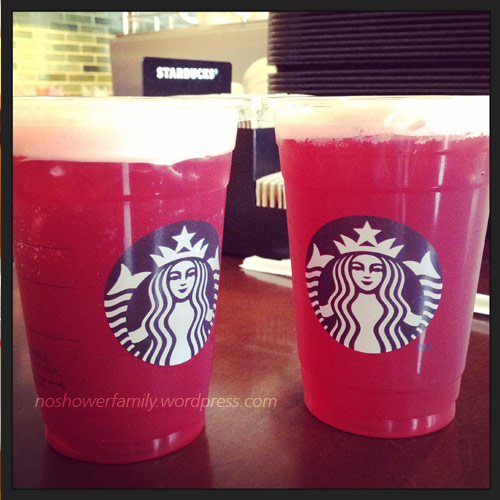 starbucks - fruit tea with lemon