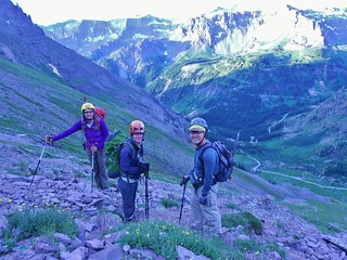 Lisa, Meredith, and Frank High Above Yankee Boy Basin