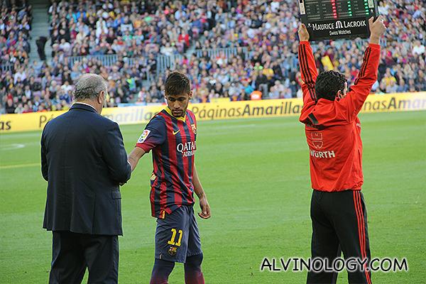 Neymar going in