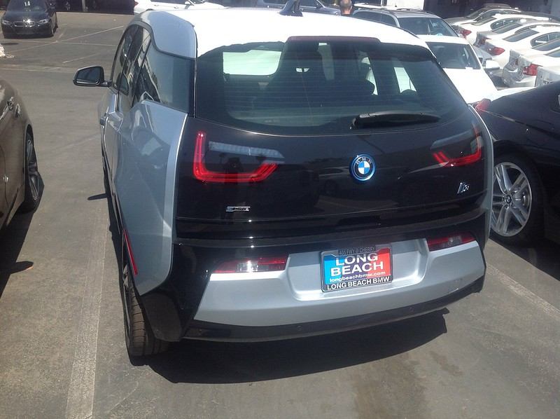Our special edition .@BMWi i3 from behind looks good too...