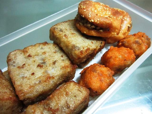 Or koi, fried sio bee & stuffed kompia