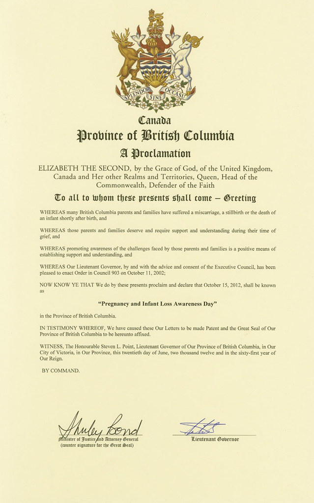 canadian proclamations of october 15