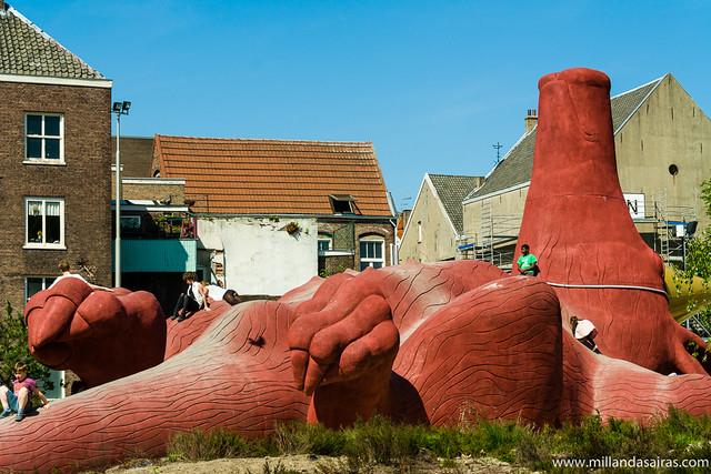 El Lazy Pig donado por el Burguer's Zoo de Arnhem