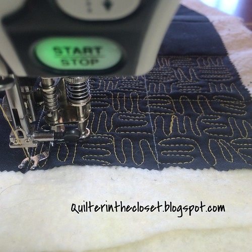 finishing stitching the 1st quadrant