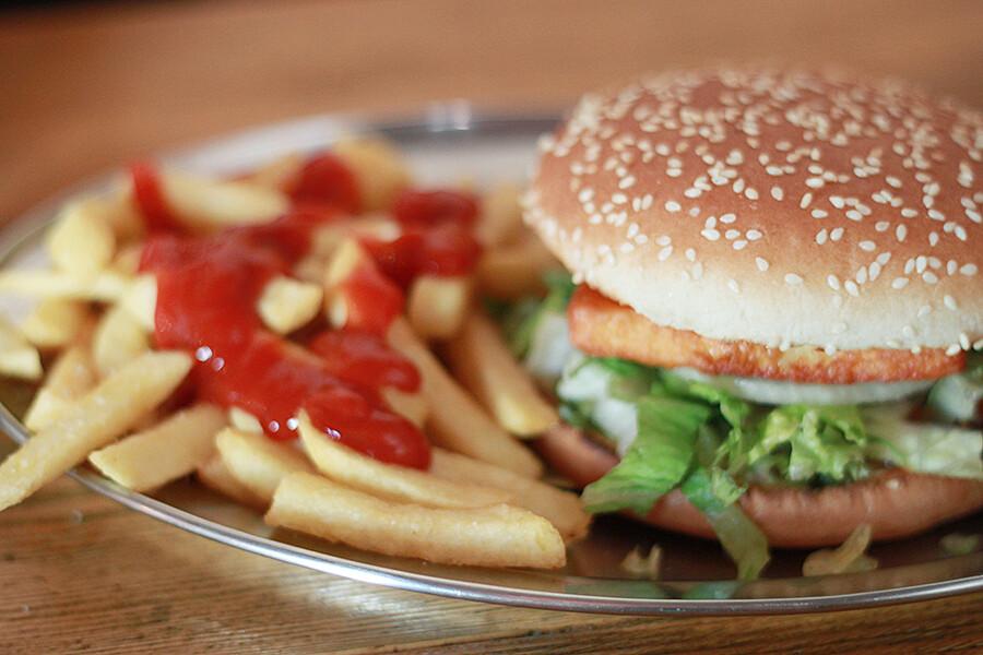 Halloumhampurilainen Kreuzburger